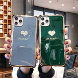 Luxury Plating Love Heart Case For iPhone