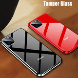 Luxury Plating Tempered Glass Case for iPhone