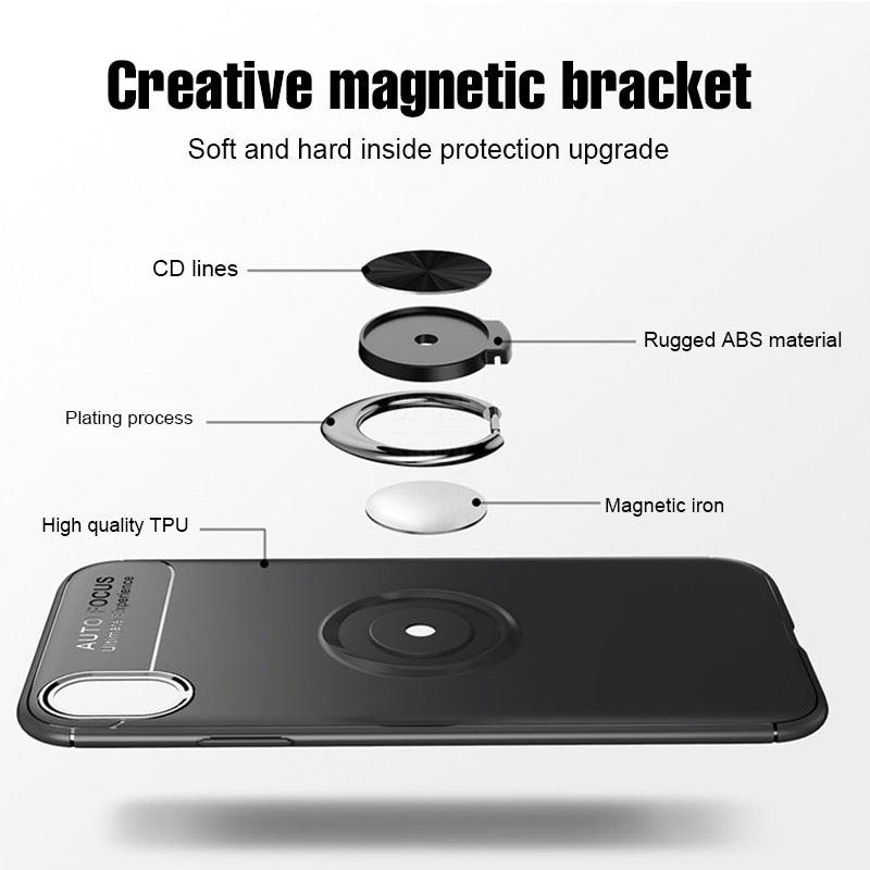 Luxury Shockproof Bracket Ring Case On The For iphone