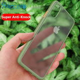 Shockproof Silicone Translucent Matte Phone Cover For iPhone