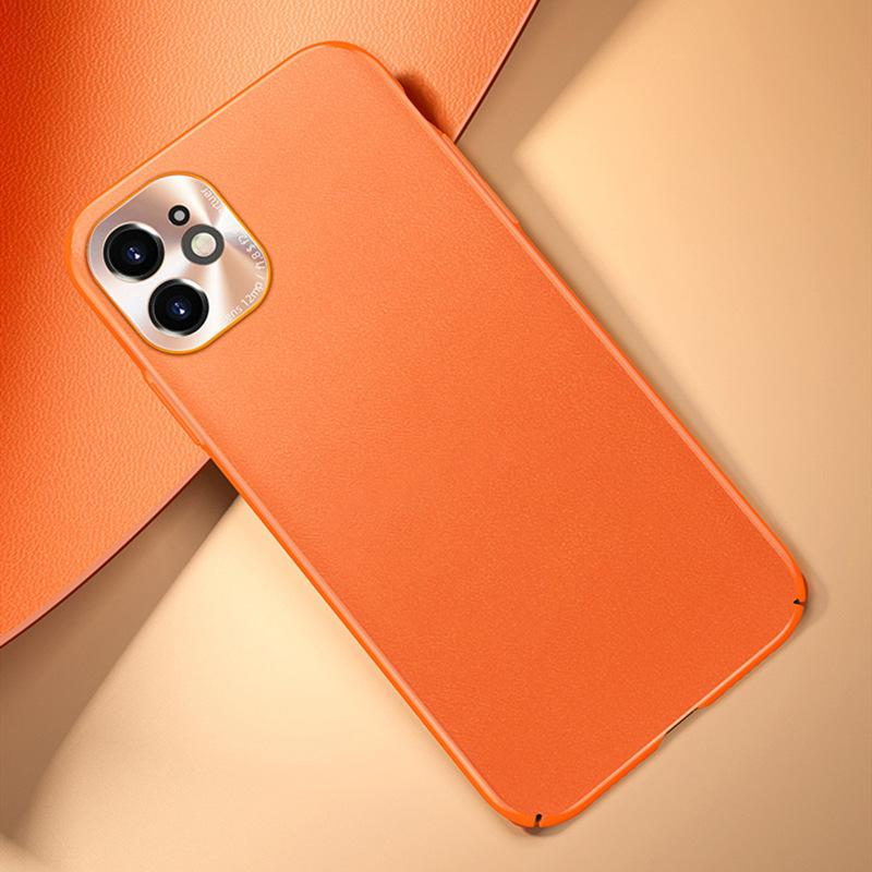 Luxury Leather Camera Lens Full Case For iPhone