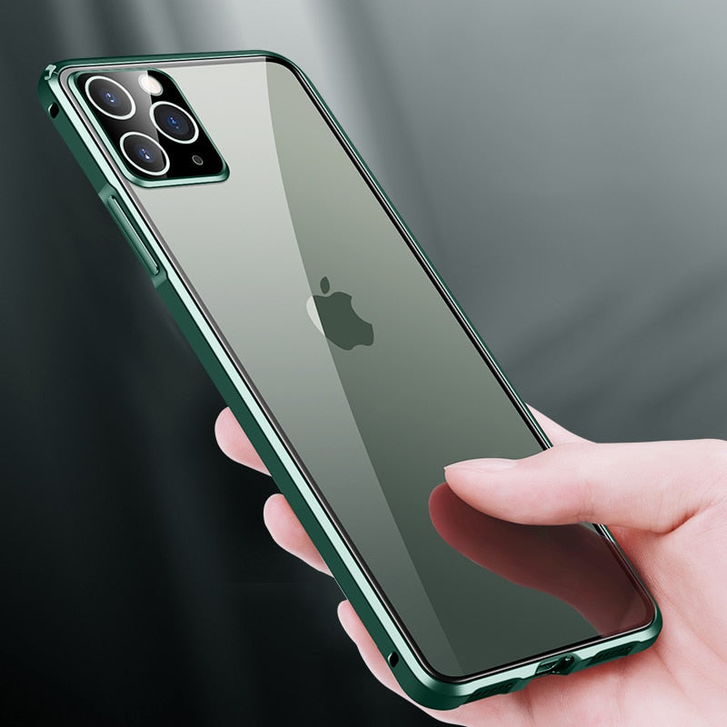 Luxury Square Metal Aluminumm bumper Case For iPhone