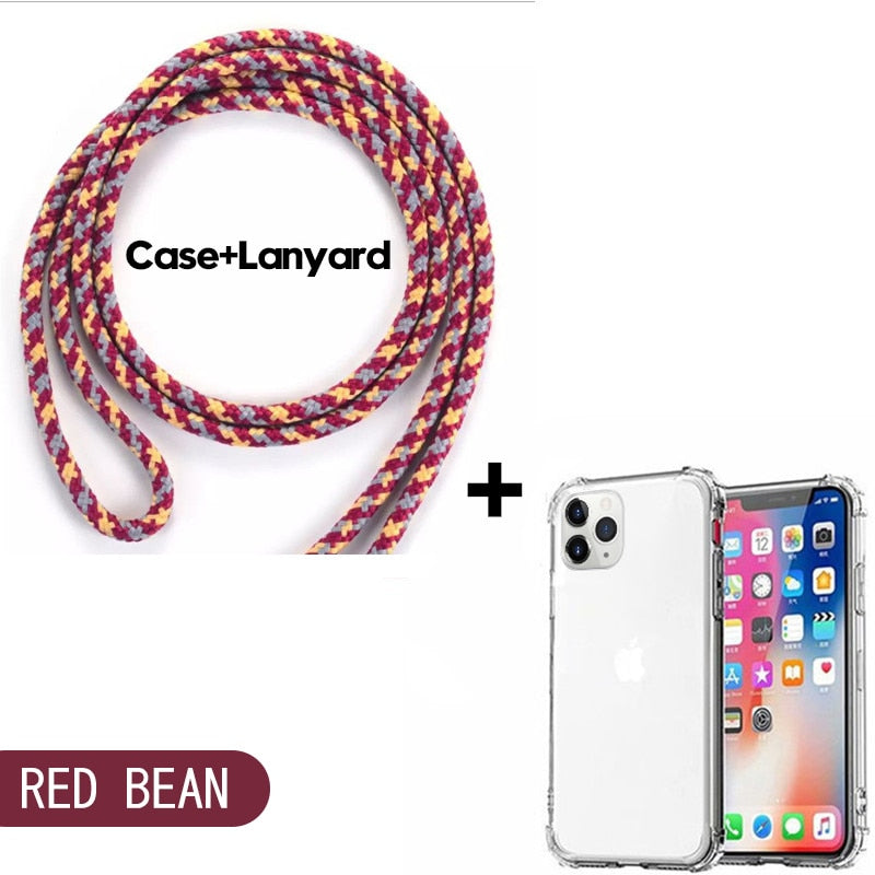 Luxury Clear Crossbody Necklace Case For iphone