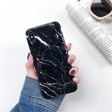 Marble Silicone Phone Case For iPhone