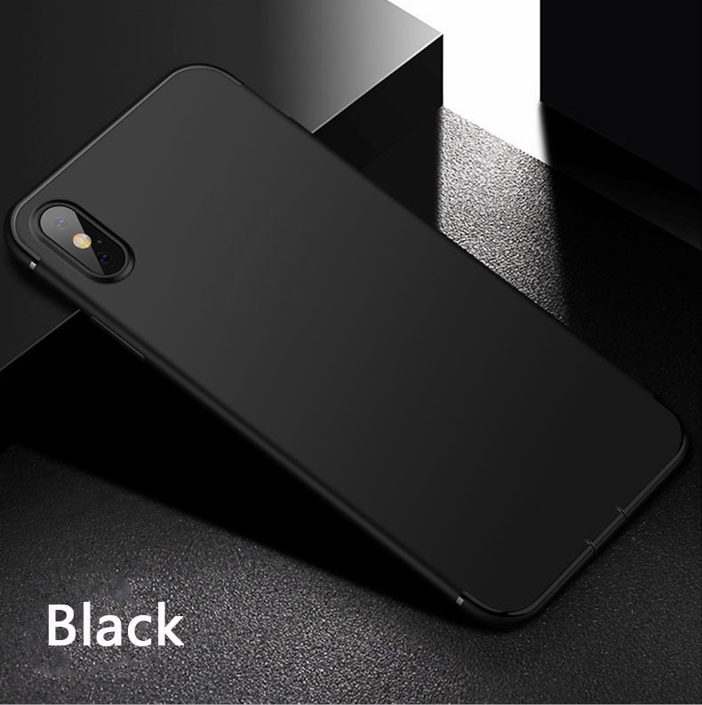 Silicone Simple Solid Color Matte Ultra thin Case For iphone