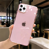 Transparent  Solid Soft TPU Phone Cases For iPhone