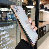 Transparent Electroplated  All-inclusive Phone Cover For IPhone