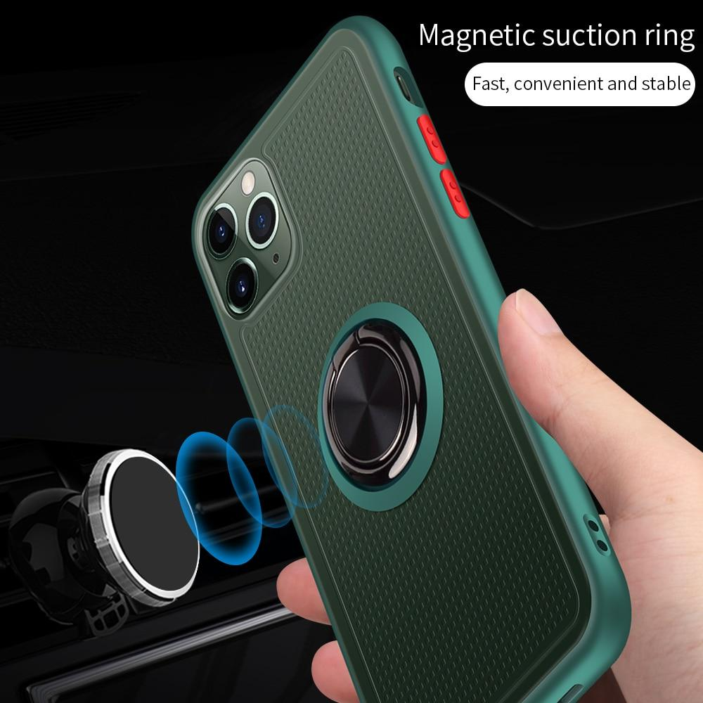 Luxury Magnetic Ring Holder Case For iPhone 11 Pro Max