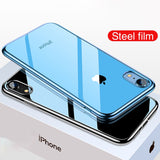 Ultra Thin Plating Soft TPU Silicone Full Cover Shockproof Transparent Phone Case For iPhone