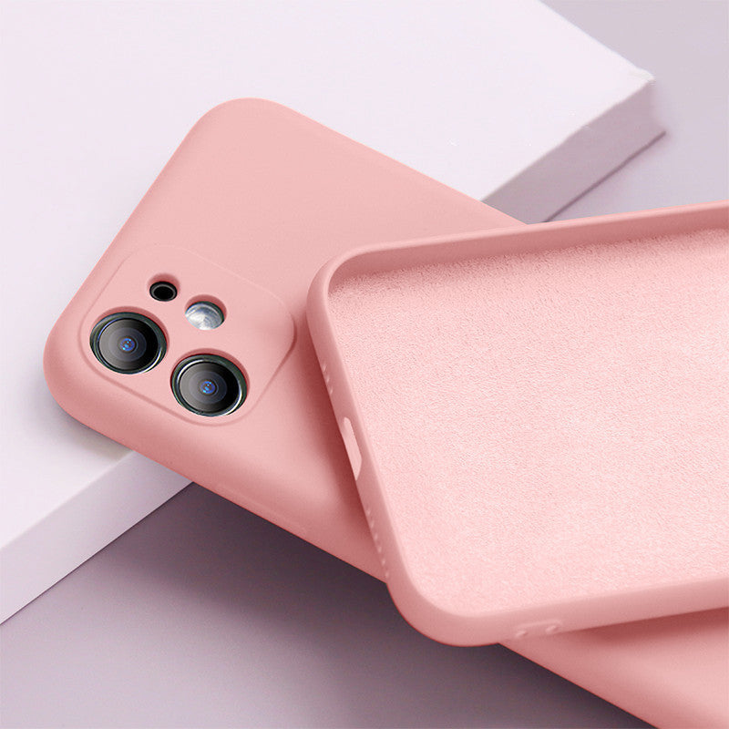 Original Liquid Silicone Candy Color Case For iPhone
