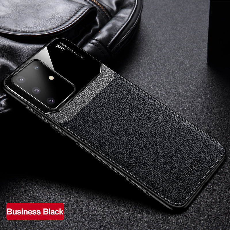 Leather Bumper Back Phone Case for Samsung Galaxy