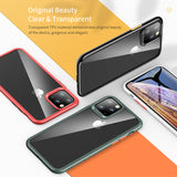 Crystal Clear Phone Protection Soft + Hard Hybrid Case For iPhone