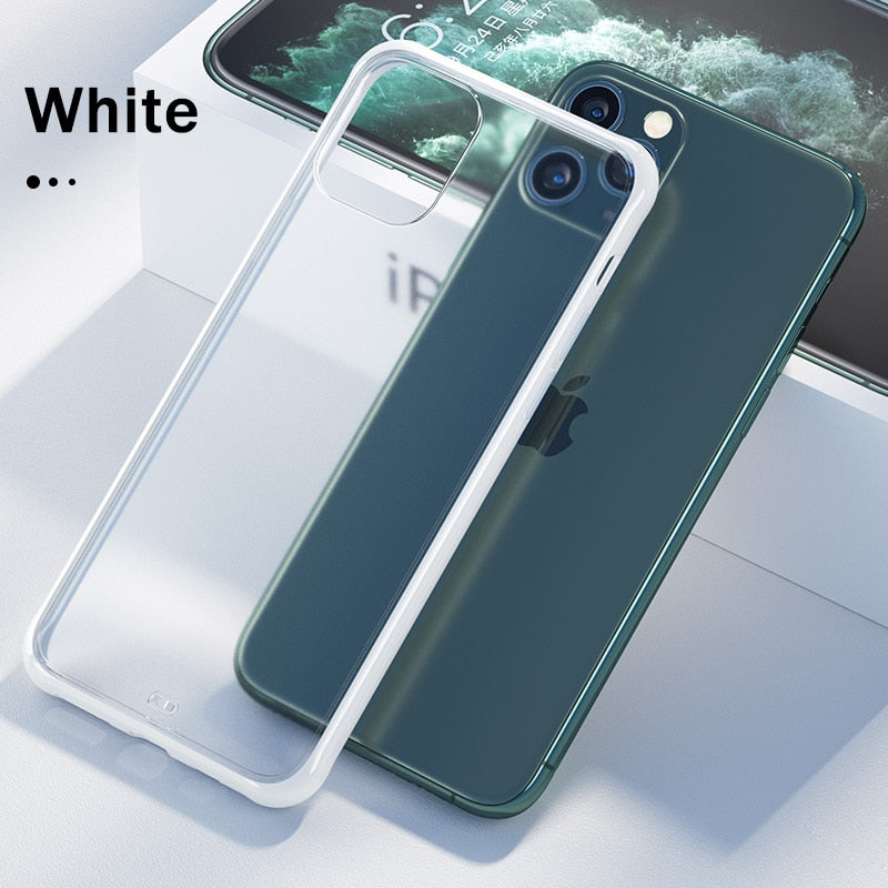 Matte Transparent Clear Soft Cover Cases For iPhone
