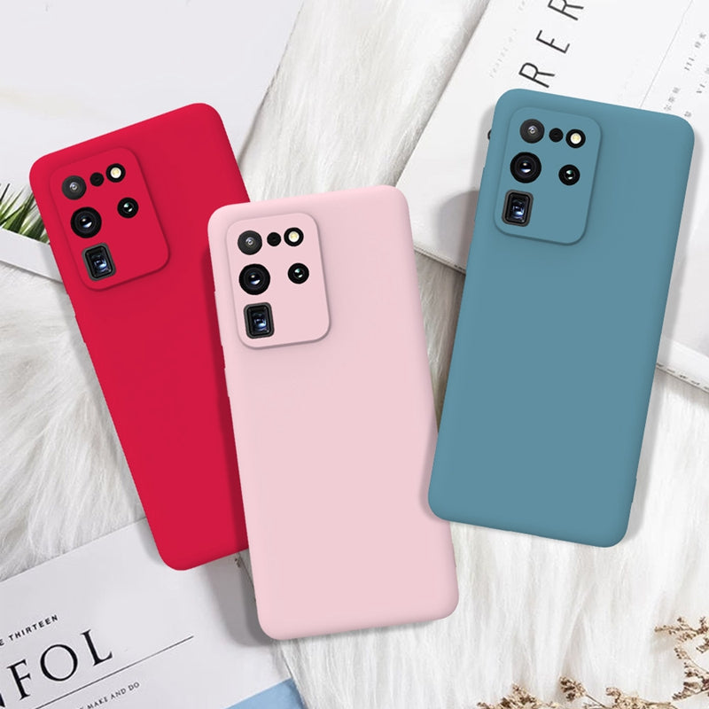Silicone Candy Color Soft TPU Back Cover Case For Samsung Galaxy