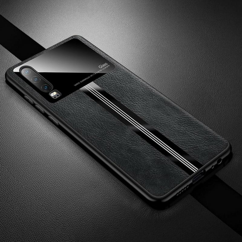 Leather Mirror Tempered Glass Case for Redmi