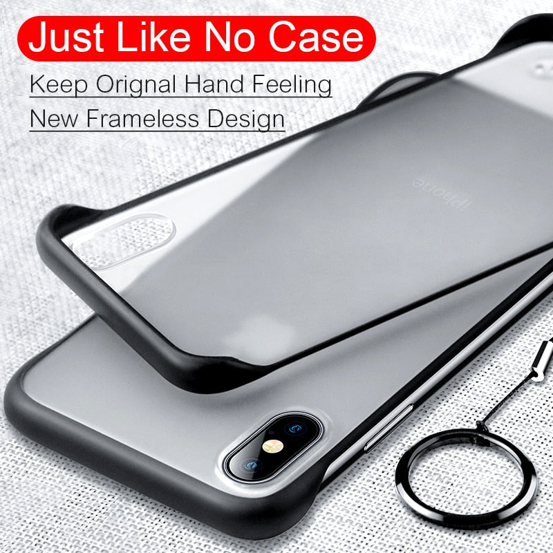Slim Frameless Case On For iPhone