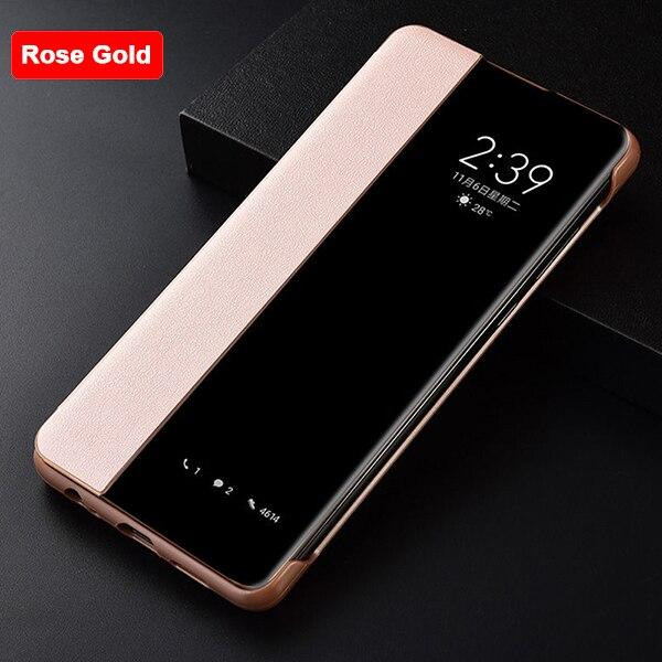 Luxury Smart View Leather Case For Huawei
