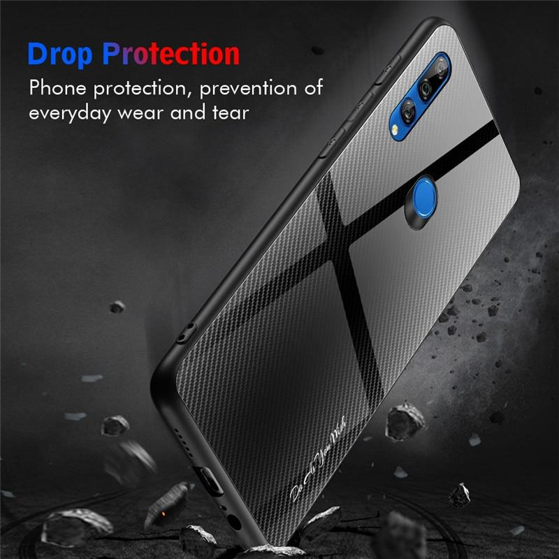 Luxury  Stripe Tempered Glass Case For Huawei