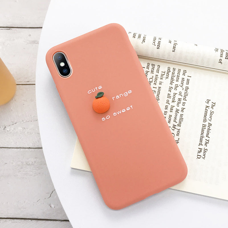 3D Candy Color Soft  Silicone Case For iPhone
