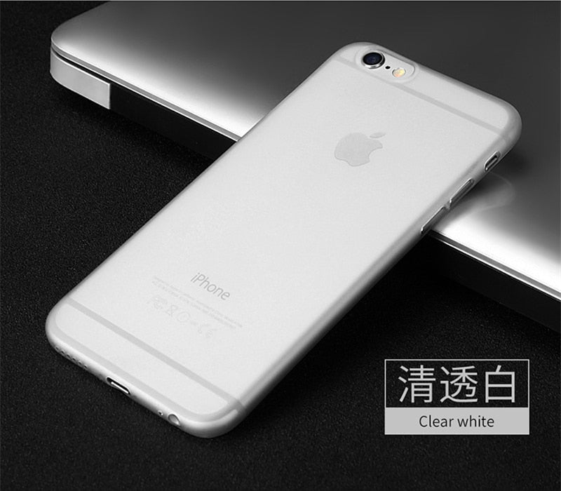 Luxury Ultra Thin Matte Transparent PP cases For iPhone