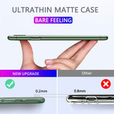 Hard Soft Matte PP Plastic Back Cover Ultra Thin Phone Case For iPhone