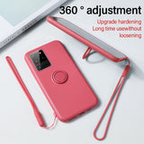 Ultra-thin Silicone Magnetic Holder  Stand Ring Bracket Cover Phone Case For Samsung galaxy