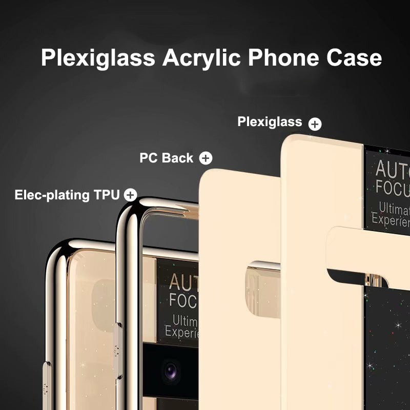 Elecplate Plexiglass Acrylic  TPU Case For Galaxy