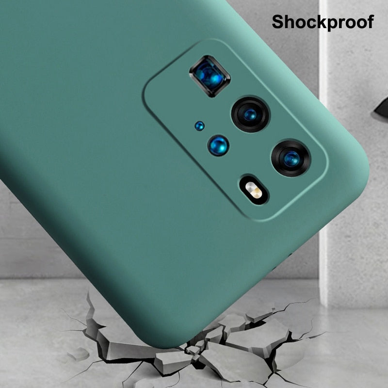 Silicone Rubber Skin Feel Soft Back Cover Camera Protect Shockproof For Samsung Galaxy S20