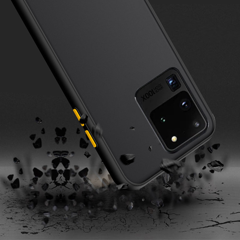 Luxury Shockproof Frosted Transparent Phone Back Cover Case For Samsung Galaxy S20