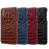 3D Crocodile Skin Genuine Leather Phone Case For iPhone