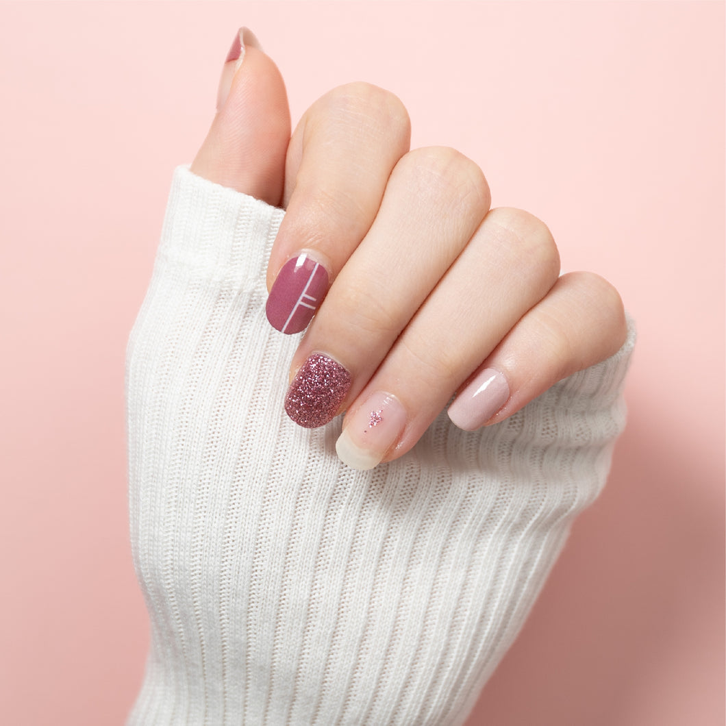 nail-stickers-singapore-amaranth-pink