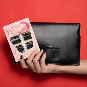 Cosmopolis nail stickers + Bags 2 Basics Clutch Bag Bundle