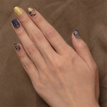 Load image into Gallery viewer, Emerald gold nail stickers