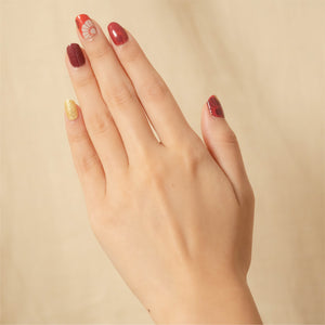 Ornate reds nail stickers