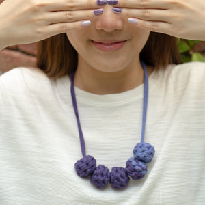 Purple Prose + Muta wear Bundle - A set of nail stickers and necklace