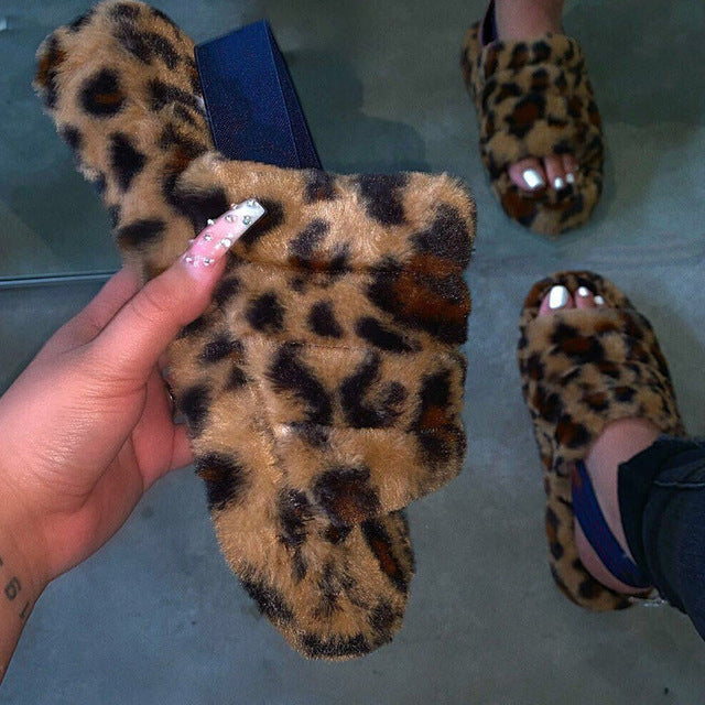 Furry Fur Slippers