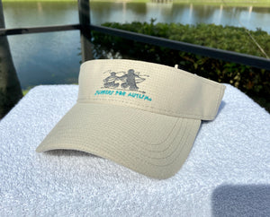 Logo Embroidered Visor-Tan