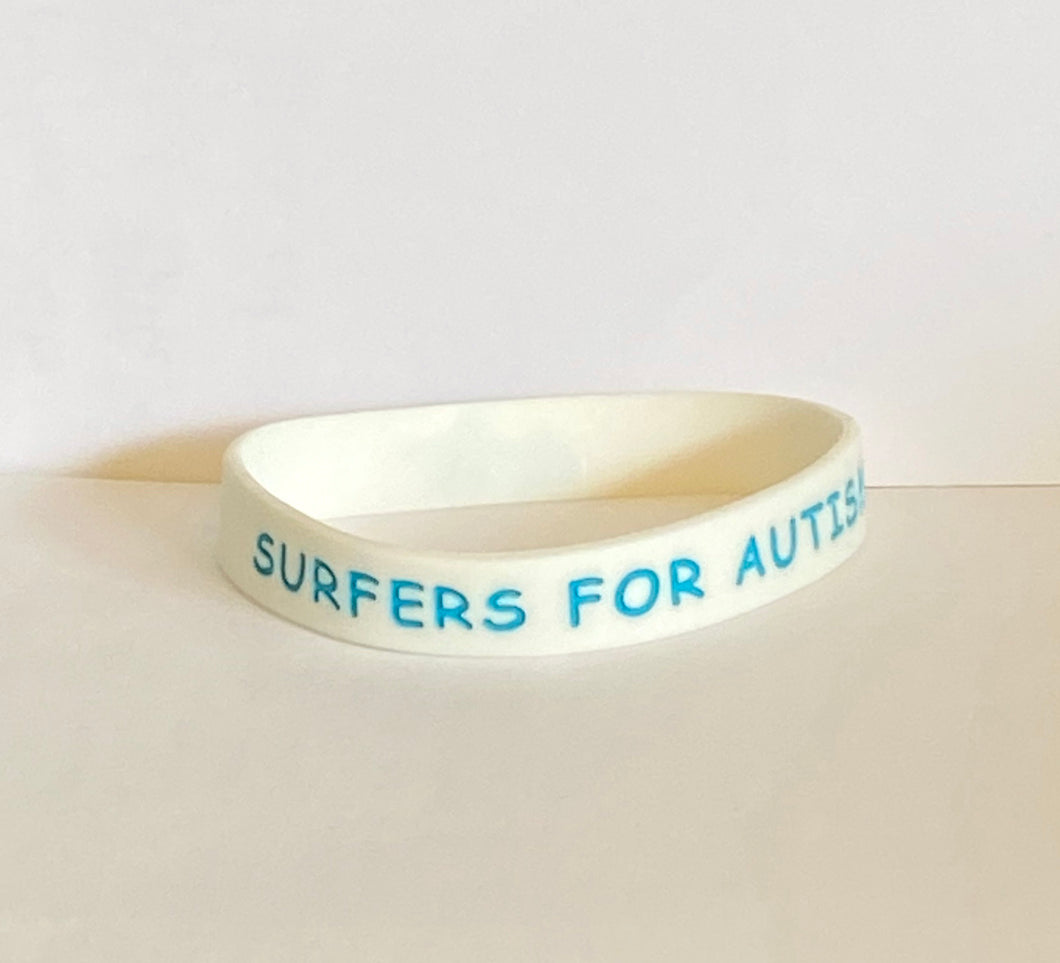 Surfers For Autism Rubber Bracelet
