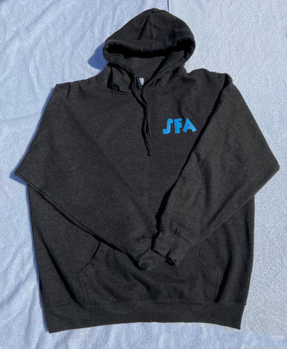 Hoodie- Charcoal Grey with Blue Logo