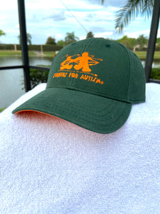 Logo Adjustable Hat-Green/Orange