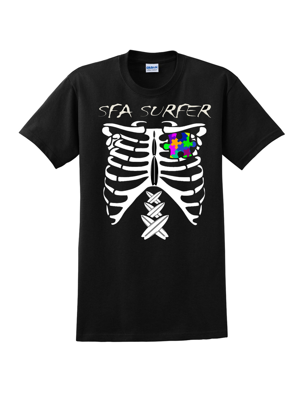 PRESALE!!! Youth GLOW IN THE DARK SFA Surfer Skeleton Tee