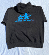 Load image into Gallery viewer, Hoodie- Charcoal Grey with Blue Logo