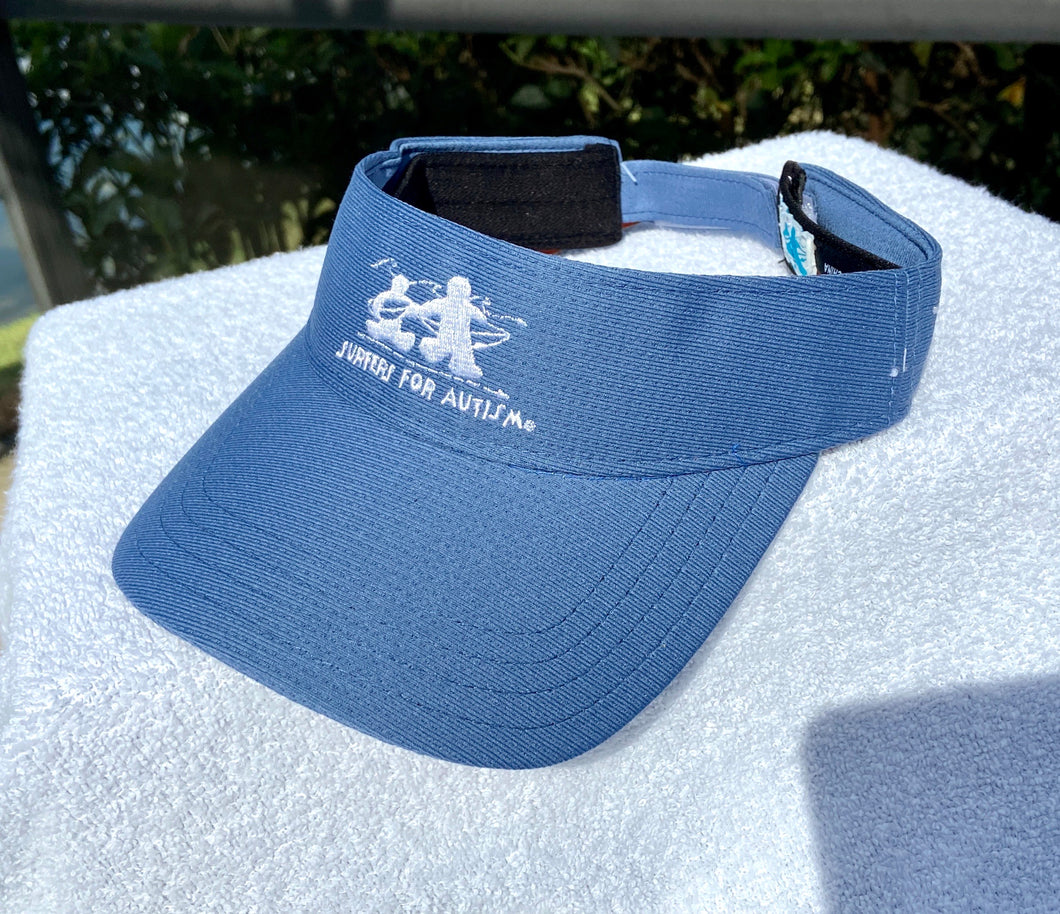Logo Embroidered Visor-Blue