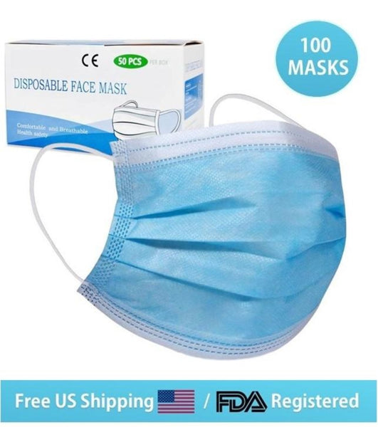 100 PCS FDA Registered Surgical Mask (10% discount)