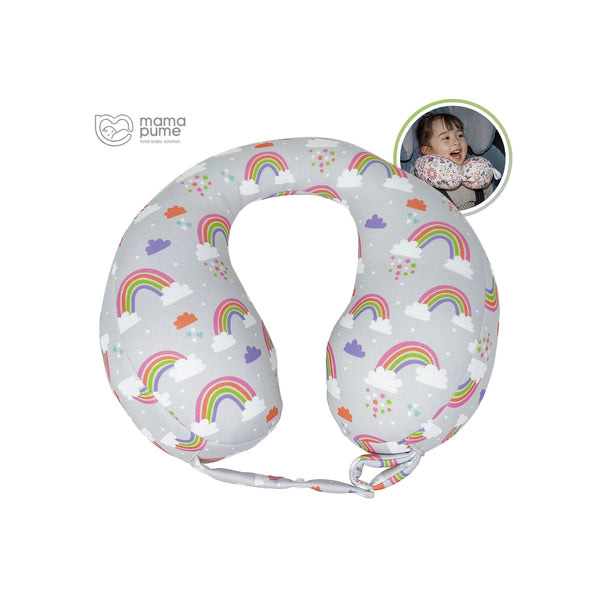 Mamapume Baby Car Seat Head&Neck Support Pillow (Milky Rainbow