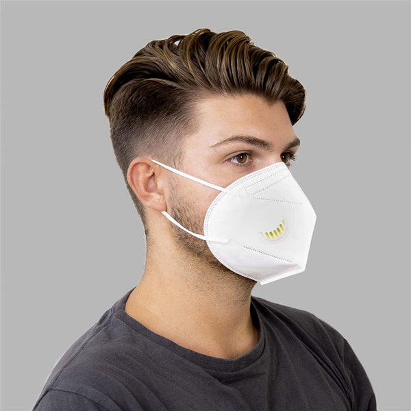 (60 Pack) KN95 MASK w/ Exhalation Valve for Protection Against PM2.5 Dust
