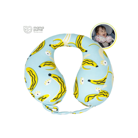 Mamapume Baby Car Seat Head&Neck Support Pillow (Banan Holic)