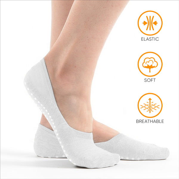 No Show Socks with grips for Men and Women(Low Cut) Non-Slip Non-Skid (6Pack)