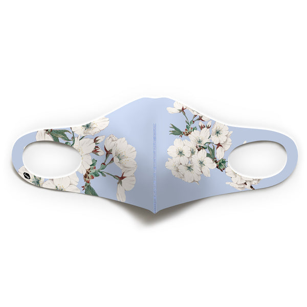 Skyblue Floral Mask