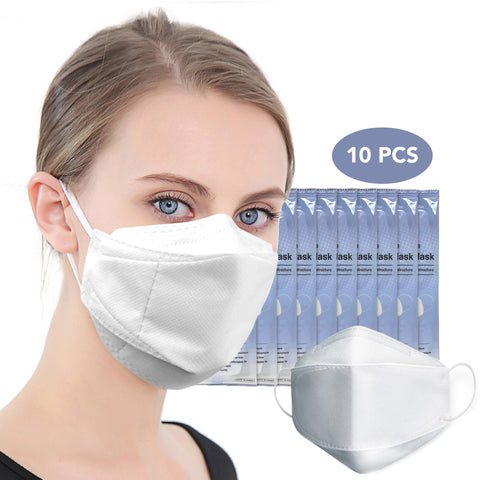 10PCS 4-Layers Filtration Disposable Mask